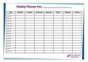 6 week planner template teknoswitch for Week by week planner template