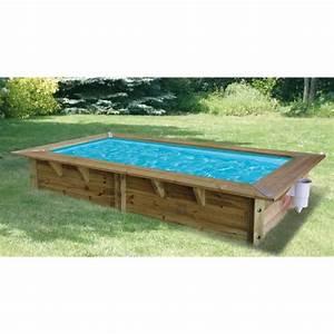 Piscine Enterrée Rectangulaire : ubbink azura piscine bois bleue 350x200x71cm achat vente piscine piscine bois ubbink 350x250 ~ Farleysfitness.com Idées de Décoration