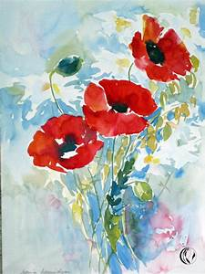 Aquarell Malen Blumen : mohn immer ein erlebnis aquarell malen am meer ~ Articles-book.com Haus und Dekorationen