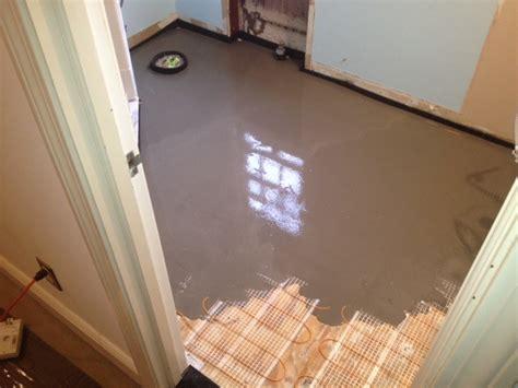 radiant heat ceramic tile flooring contractor talk