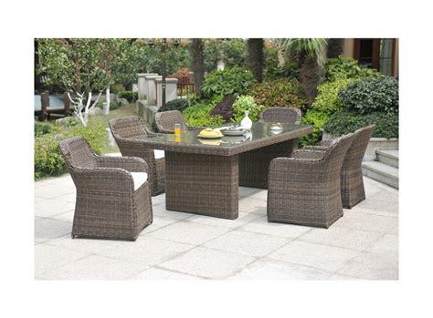 vente unique salle 224 manger de jardin limones en r 233 sine tress 233 e une table et 6 fauteuils