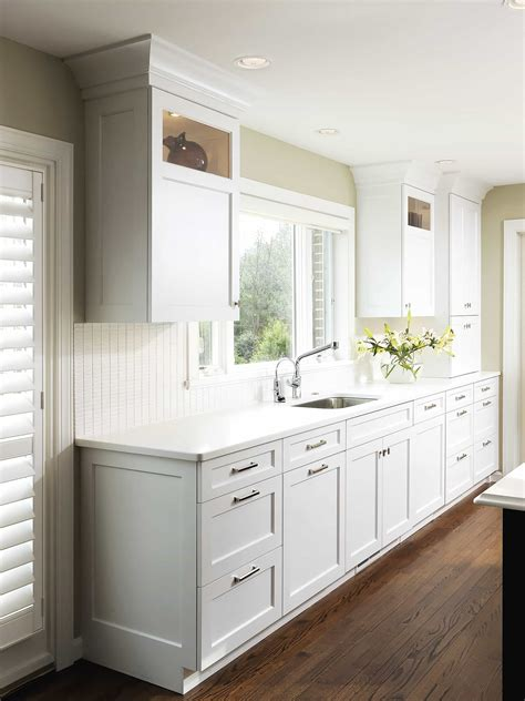 shaker cabinets  crown molding  furniture ideas