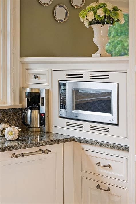 kitchen island microwave built in minneapolis built in coffee kitchen traditional with 8199