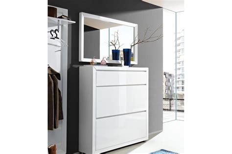 meuble chaussures laqu 233 blanc brillant 2 portes et 1 tiroir trendymobilier