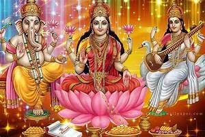 Laxmi Ganesh Saraswati Photo, wallpaper & hd images download