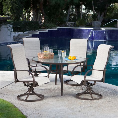 patio dining sets coral coast deluxe padded sling rocker dining set