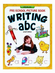 Buy pre school picture book writing abc small letters for Picture books about writing letters