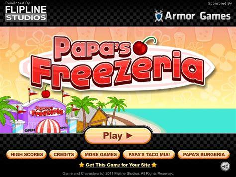 jeux de cuisine papa louie pancakeria papa 39 s freezeria karafuru