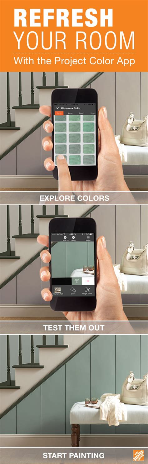 search quot project color by the home depot quot on your iphone or