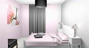 Chambre Rose Pale : chambre fille blanc et rose chambre de fille aux murs gris et fushia scenesdinterieur trendmetr ~ Melissatoandfro.com Idées de Décoration