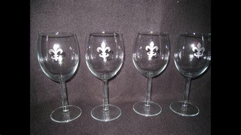 glass etching craft   create custom wine glasses updated youtube