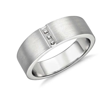modern channel ring in platinum 1 12 ct tw blue nile