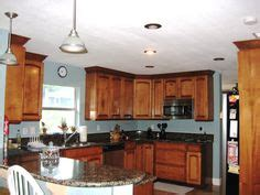 green kitchen walls brown cabinets kitchen maple cabinets blue gray walls new house 6943