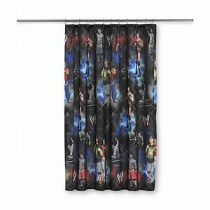 Wwe wwe boy39s fabric shower curtain home bed bath for Wwe bathroom set
