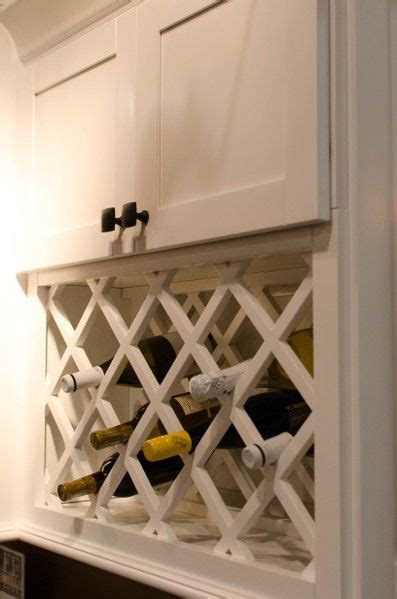 Wine Rack For Cupboard by White Shaker Wine Rack Kitchen Cabinet Styles