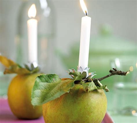 Green apples as one of the ways of decorating for various