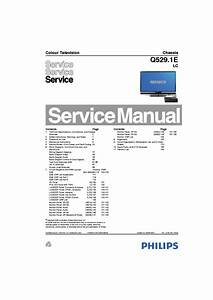 Philips Q529 1e Lc Chassis Lcd Service Manual Download  Schematics  Eeprom  Repair Info For