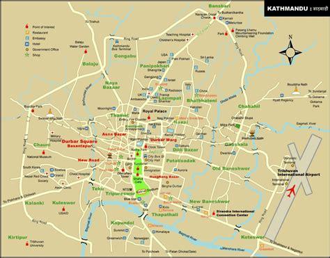 Kathmandu Travel Maps - Tourist Map Guide in Kathmandu