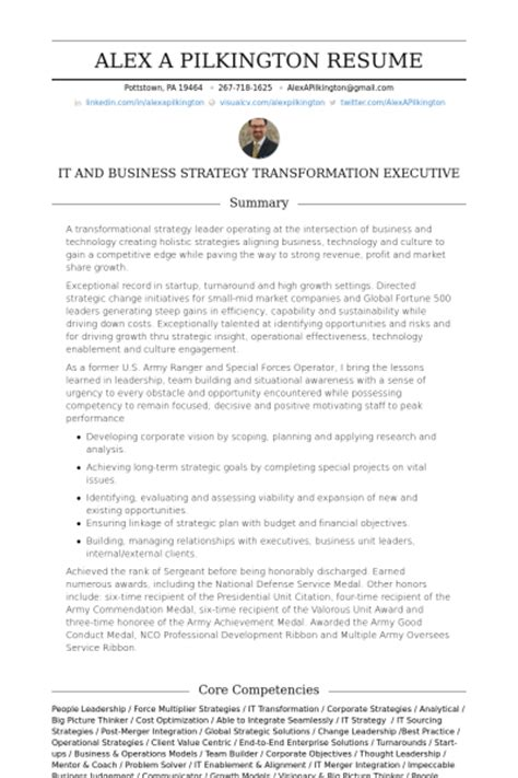Strategy Resume by Operations Resume Sles Visualcv Resume Sles Database