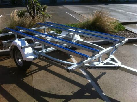 Convert A Boat Trailer To Pontoon Trailer by Fem Yak For Free How To Convert A Boat Trailer For Kayaks