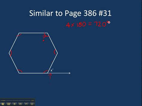 page   finding  exterior angle   regular