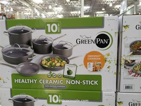 greenpan  piece ceramic  stick cookware set