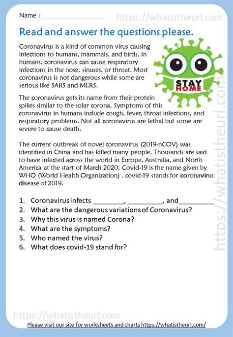 corona virus reading comprehension    home