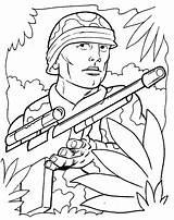 Army Coloring Printable sketch template