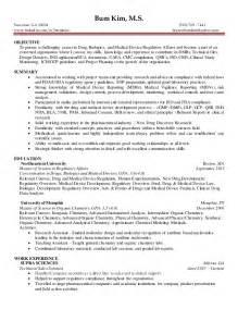 regulatory affairs resume sles 6 3 2016 regulatory affairs entry level resume bum