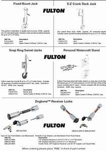 34 Fulton Trailer Jack Parts Diagram