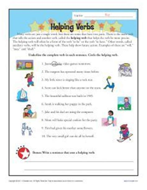 verb and linking verb worksheets linking verbs