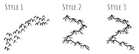 draw simple mountains   fantasy map fantasy