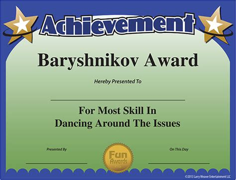 fun certificate dancer   year  excellence