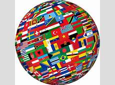 World Flags Globes All Waving Flags