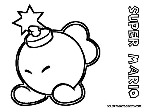 Super Paper Mario Free Coloring Pages On Art
