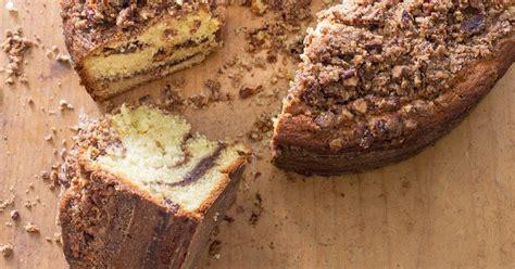 Do i bake this coffee cake in a bundt pan or tube pan? Sour Cream Coffee Cake With Brown Sugar Pecan Streusel America S Crumb Cake Gl... - #america # ...
