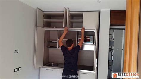 cucina monoblocco  scomparsa mini cucine salvaspazio compact kitchen space saving ideas youtube