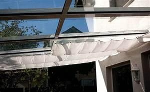 sichtschutz glasdach von oben mit sonnensegel With innenbeschattung für terrassenüberdachung