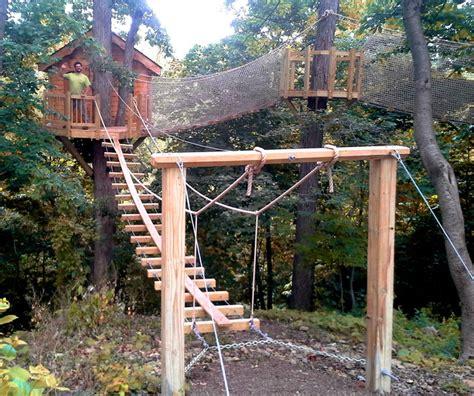 newtown square pa rope bridge treehouse