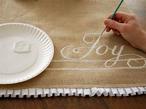 How to Make a Hand-Painted Burlap Table Runner HGTV