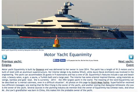 Yacht Jho Low by Heist Of The Century How Jho Low Used Petrosaudi As Quot A