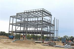 Filesteel frame commercial building under construction for Commercial steel frame buildings
