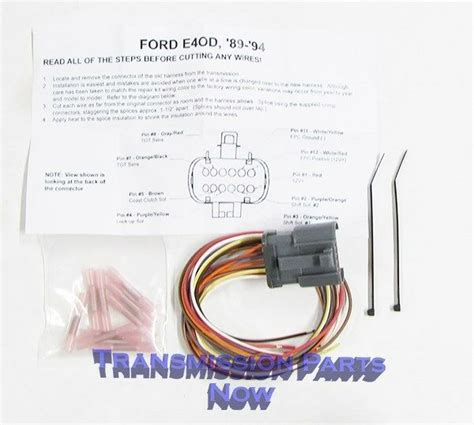 E40d Wiring Harnes Repair Kit by Ford Transmission External Connector Repair End E4od 4r100