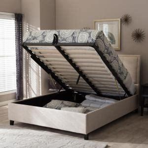 baxton studio lea beige queen upholstered bed