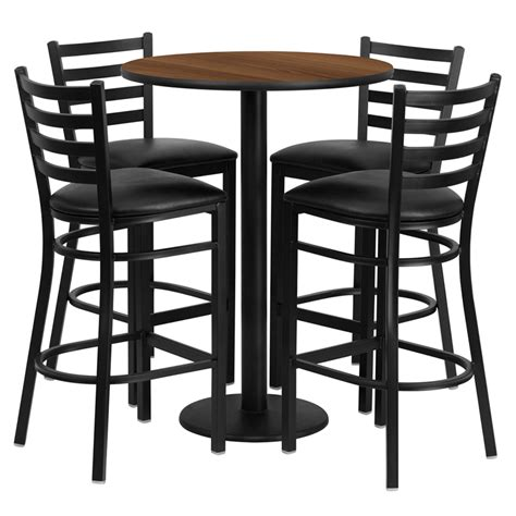 30 round counter height table laminate table set 30 quot round bar height commercial table