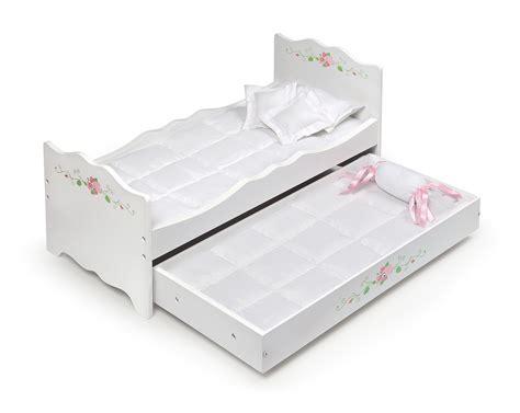 badger basket doll bed with trundle white rose