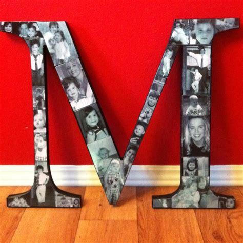 mod podge pictures on wood letters mod podge wooden letter