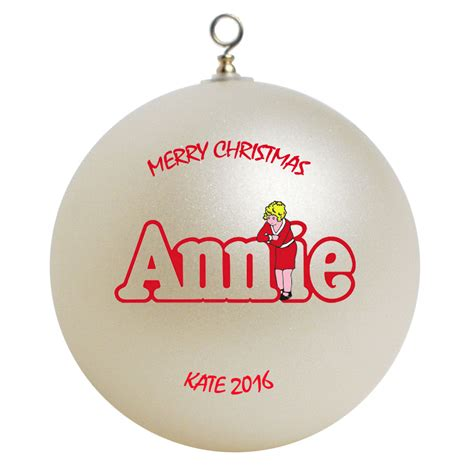 personalized little orphan annie christmas ornament gift