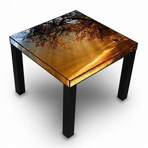 Table D Appoint Doré : table d 39 appoint noir avec motif dor l 39 automne banjado ~ Teatrodelosmanantiales.com Idées de Décoration