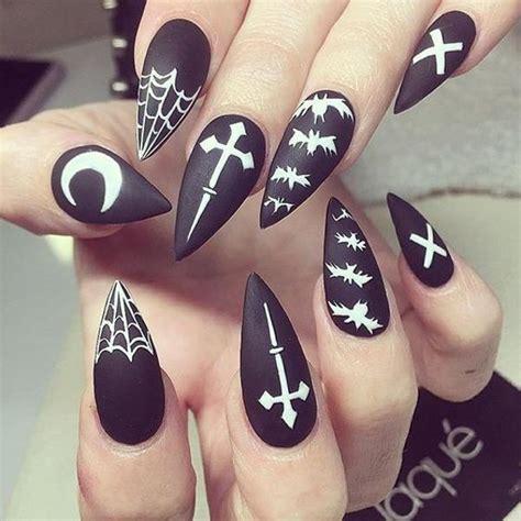 modern halloween ideas  spooky nail designs